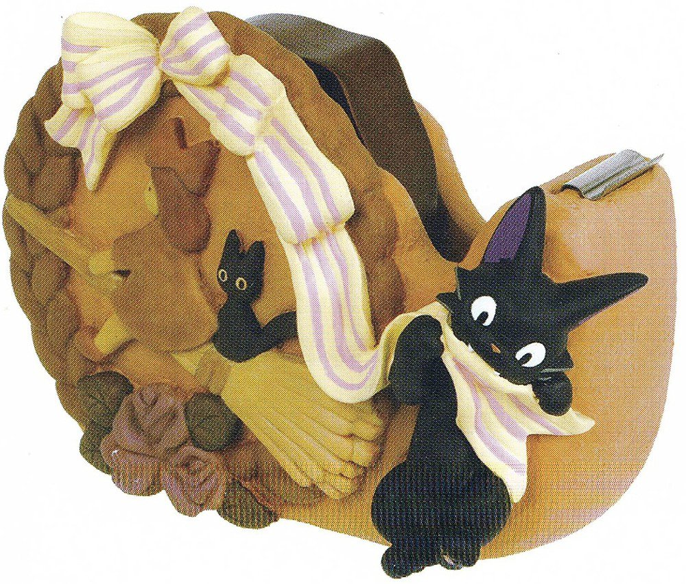 �Ghibli Kiki's Delivery Service Tape Cutter Bread Wreath and Jij Japan NEW F/S�