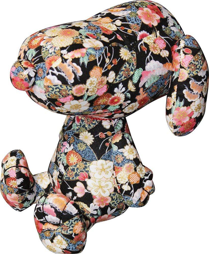 SAKURA SNOOPY Plush Doll Stuffed Toy Cherry blossom Black Wagara Japan PeanutsFS
