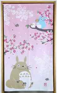 My Neighbor Totoro NOREN Doorway Cherry Blossom pink Polyester Partition Curtain