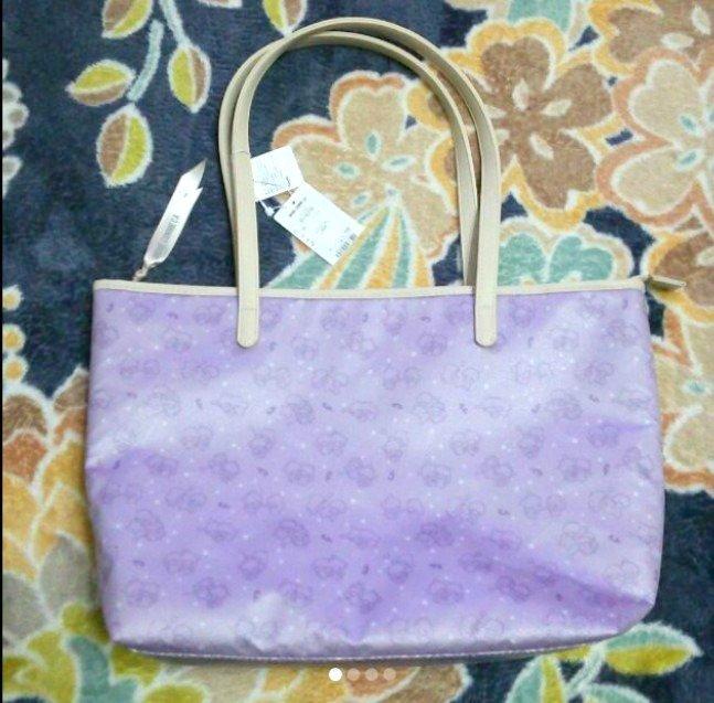 Little Twin Stars � MONO COME CA Tote bag Hand bag Kiki Lara Light purple FS NEW