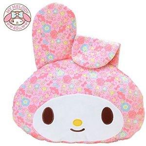 My Melody 40th Anniversary Face-shaped Big Cushion Pink Sanrio Japan limited FS