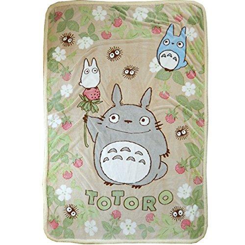 """My Neighbor Totoro Blanket 140 �200� 55.1""""� 78.7"""" polyester Studio Ghibli NEW FS"""