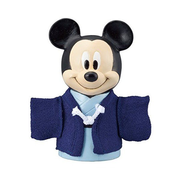 �Disney Mickey Kimono Piggy bank doll Pottery figure MADE IN JAPAN NEW FS�