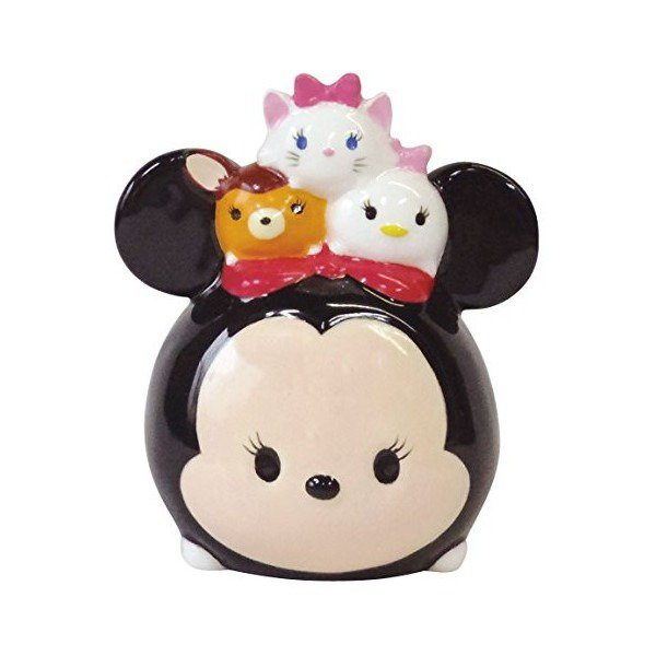 �Disney TSUM TSUM Minnie mouse Piggy bank Pottery figure from JAPAN NEW FS�