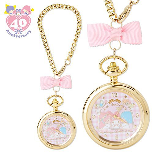 �Gift My Melody and Little Twin Stars 40th 2WAY Charm Pocket Watch NEW FS�