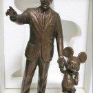 Tokyo Disneyland 25th Anniversary Walt and Mickey Partners bronze statue Figure