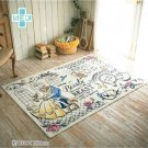 NEW Disney Beauty and the Beast Bell Rug mat Carpet 130×180 Made in JAPAN F/S