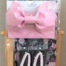 Disney Minnie Mouse Cherry blossoms Yukata Set M Pink Roses Kimono Dress Girl FS