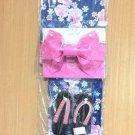 Little Mermaid Ariel Cherry blossoms Yukata Set M Pink Roses Kimono Dress GirlFS