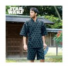 NEW Star Wars Darth Vader Men's Jinbei Black gray Roomware Yukata M L LL 3L FS