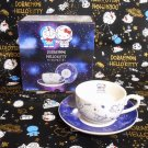 DORAEMON X HELLO KITTY Porcelain Ceramic Mug Tea Cup & Saucer space cosmos FS