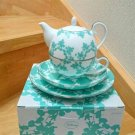 Mickey Mouse Franc franc Tea For One Afternoon Tea pot & cup & Dish Set Green FS