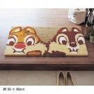 Disney Chip & Dale Washable entrance mat Door mat Floor lag F/S Made in Japan