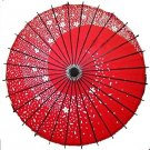 Japanese Dance Umbrella Sakura Fubuki red color for Cosplay Kawaii Beautiful FS