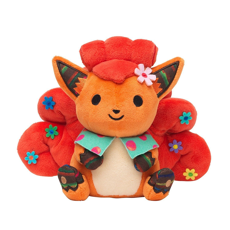 Pokemon Vulpix Chiku Chiku Sewing Plush 7'' New F/S Japan
