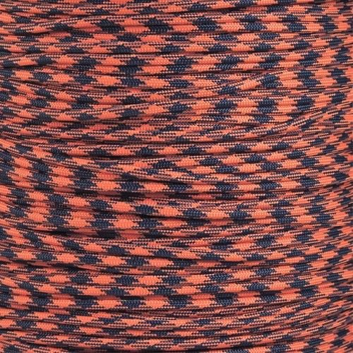 100ft Orange & Navy Paracord 550 lb Mil Spec Type III 7 strand parachute cord commercial grade