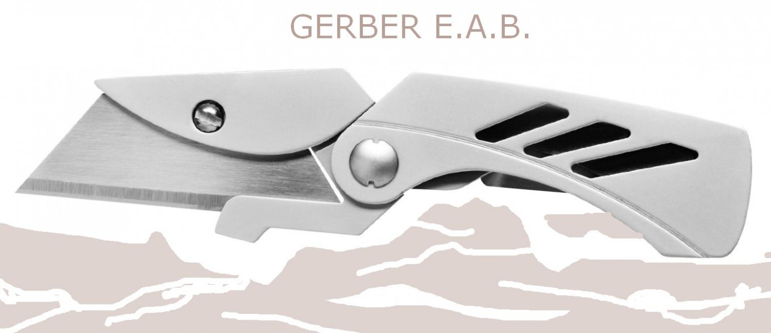 Gerber 31-000345 E.A.B. Lite Pocket Knife Exchange A Blade Fine Edge