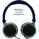 MAXELL DJ Style Headphones 40mm driver monitor for iPAD iPHONE MP3 deep bass