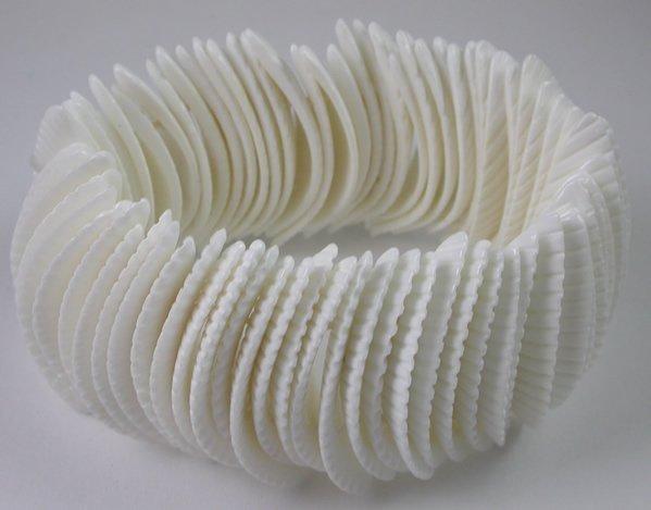 Seaside White Shell Stretch Bracelet