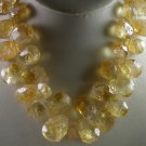Handcrafted New Womans Statement Yellow Citrine Necklace