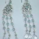 Chandelier Aquamarine Earrings in Sterling Silver