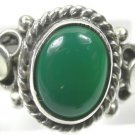 Green Onyx Ring in Sterling Silver