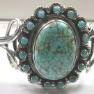 TURQUOISE CUFF BRACELET IN STERLING SILVER