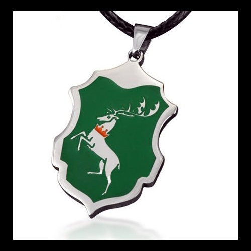 Game of Thrones House Baratheon Stag Pendant (Green) Necklace