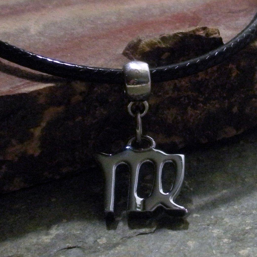 Silver Zodiac Charm Necklace - Virgo the Virgin