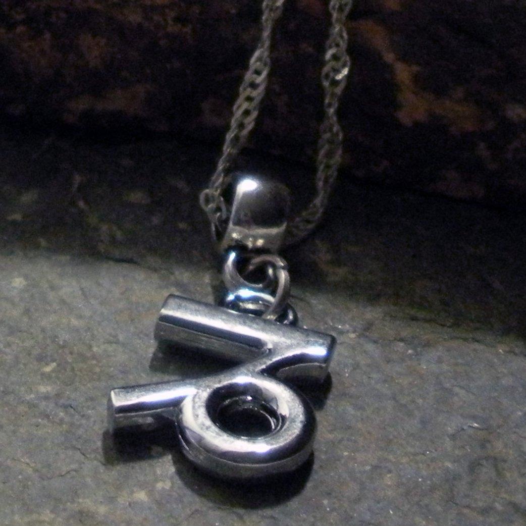 Silver Zodiac Charm Necklace - Capricorn the Goat (silver)