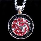 Game of Thrones House Targaryen Dragon Pendant (Red)