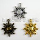 Gold, Silver, and Bronze Sun Charms  (3 pieces)