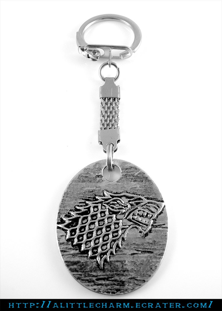 Game of Thrones House Stark Direwolf Pendant Key Chain