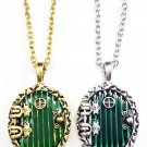The Hobbit Fairy Green Enamel Door Pendant Locket (Silver)