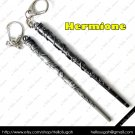 Harry Potter Antique Gunmetal Black Wands ~ Hermione Key Chain