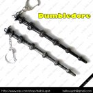 Harry Potter Antique Gunmetal Black Wands ~ Dumbledore Key Chain
