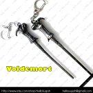 Harry Potter Antique Gunmetal Black Wands ~ Voldemort Key Chain