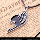 Black Fairy Tail Pendant Necklace