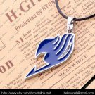 Blue Fairy Tail Pendant Necklace (silver chain)