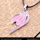 Pink Fairy Tail Pendant Necklace (silver chain)