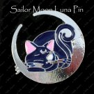 Sailor Moon Luna Sitting on a Crecent Moon Pin