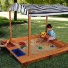 KIDKRAFT Outdoor Sandbox with Canopy 00165
