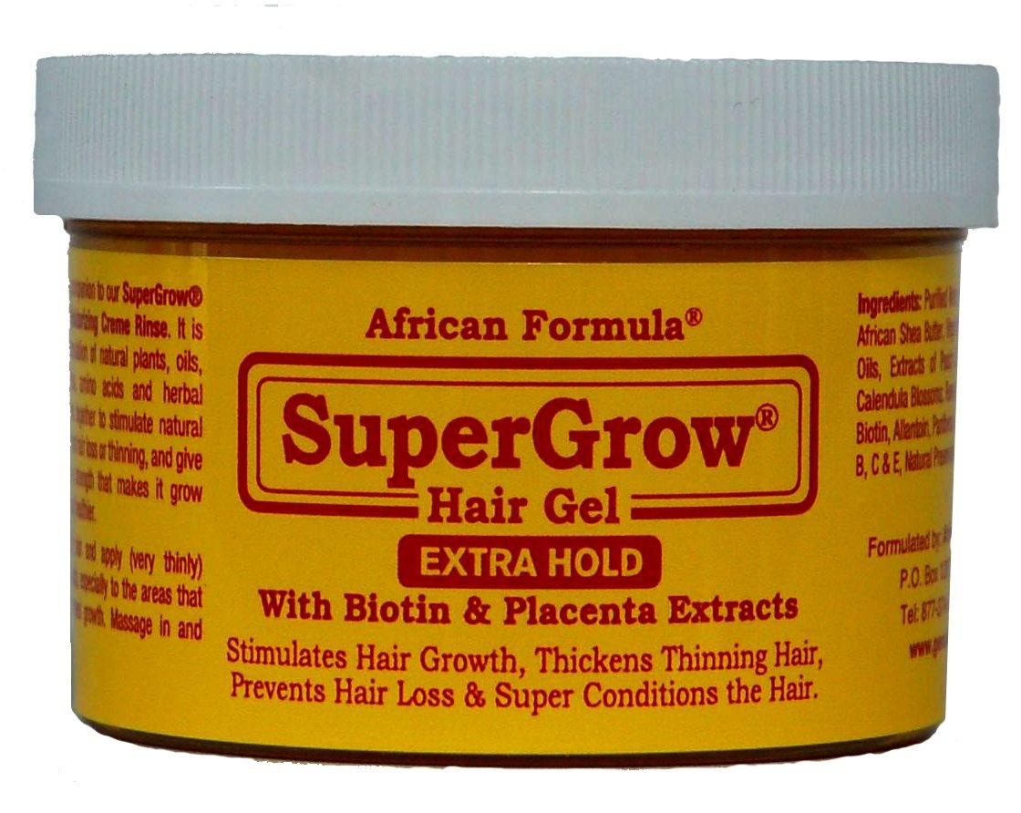 SuperGrow Hair Gel Extra Hold 8oz