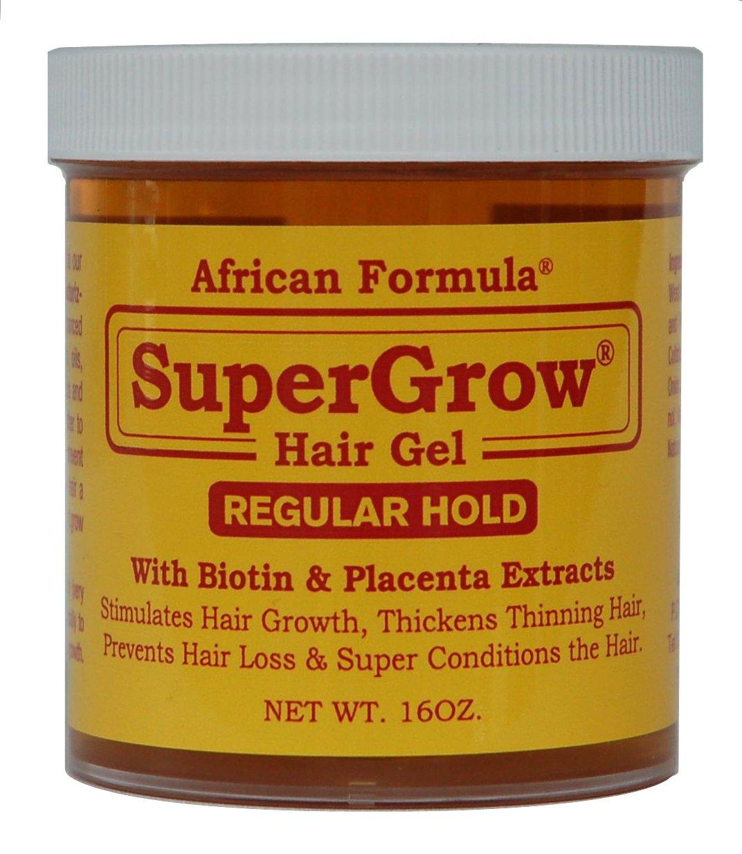 SuperGrow Hair Gel Regular Hold 16 oz