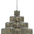 "Chantal 18-Light 26""""D Crystal Chandelier 1734D26C-GT-SS"