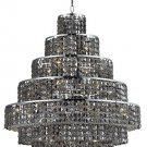 "Chantal 20-Light 30""""D Crystal Chandelier 1734D30C-SS-SS"