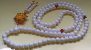 sea shell chanting beads. string of 108