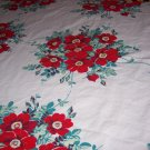 Wilendur Wild roses vintage tablecloth with cloth tag
