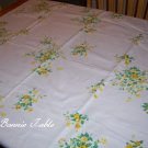 Beautiful Yellow floral Wilendur vintage tablecloth