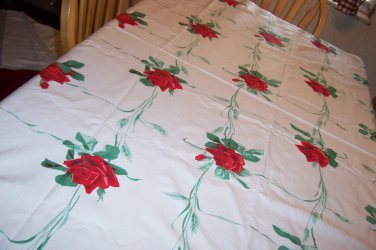 Vintage Wilendurs Pride of america tablecloth bright roses
